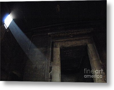 Egypt Interior Chamber Dendera Metal Print by Bob Christopher