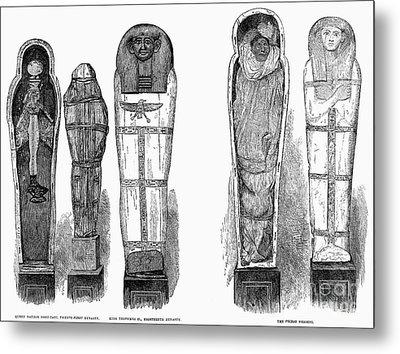 Egypt: Royal Mummies, 1882 Metal Print by Granger