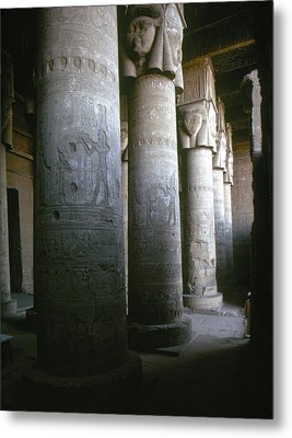 Egypt: Temple Of Hathor Metal Print by Granger