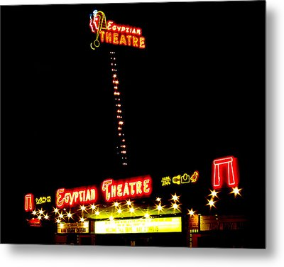 Egyptian Theatre In Coos Bay Oregon Metal Print by Gary Rifkin