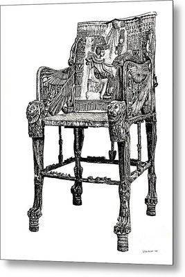 Egyptian Throne Metal Print by Adendorff Design