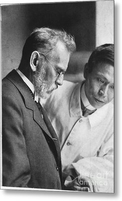 Ehrlich And Hata, Discovered Syphilis Metal Print by Science Source