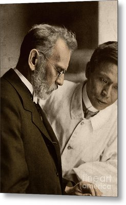 Ehrlich And Hata, Discoverers Metal Print by Science Source