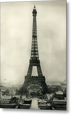 Eiffel Tower 1890 Metal Print by Bill Cannon