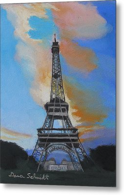 Eiffel Tower At Dusk Metal Print