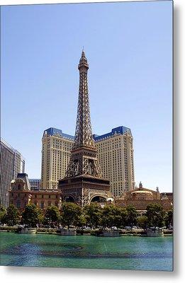 Eiffel Tower Las Vegas Metal Print by James Granberry