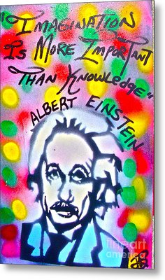 Einstein Imagination Metal Print by Tony B Conscious