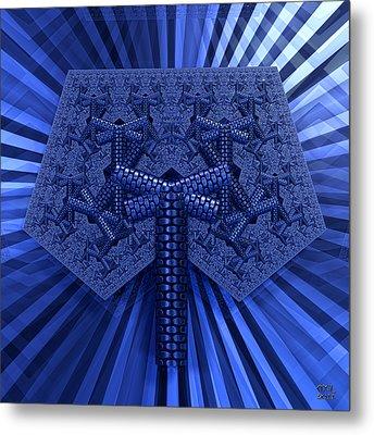 Metal Print featuring the digital art El Azul Del Mar by Manny Lorenzo