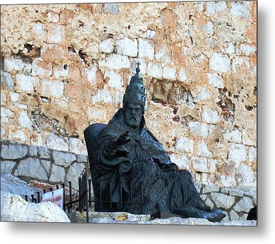 El Cid The Movie Remembered At Peniscola Castle Metal Print by John Shiron
