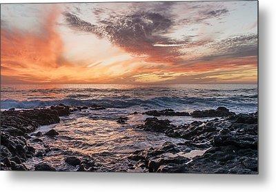 El Golfo, Sunset, Lanzarote, Metal Print by Travelstock44 - Juergen Held