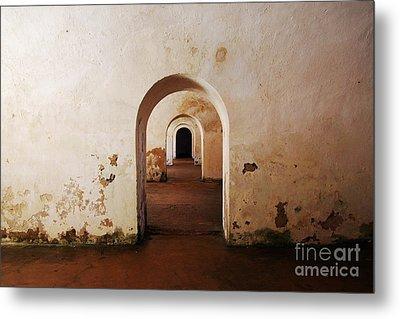 El Morro Fort Barracks Arched Doorways San Juan Puerto Rico Prints Metal Print by Shawn O'Brien