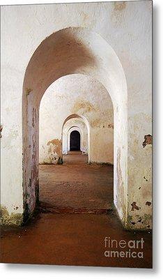 El Morro Fort Barracks Arched Doorways Vertical San Juan Puerto Rico Prints Metal Print by Shawn O'Brien