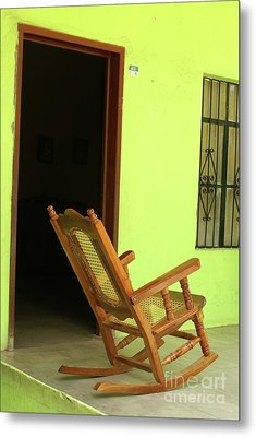 El Quelite Rocking Chair Mexico Metal Print by John  Mitchell