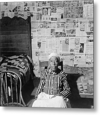 Elderly Former Slave In Her Sitting Metal Print by Everett