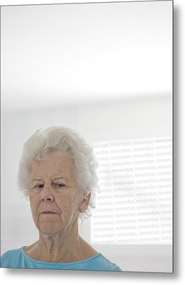 Elderly Woman Metal Print by Cristina Pedrazzini