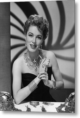 Eleanor Parker, Ca.late 1940s Metal Print by Everett
