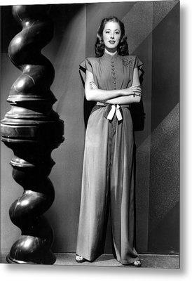 Eleanor Parker, Wearing A One-piece Metal Print by Everett