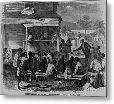 Electioneering In The South In Summer Metal Print by Everett