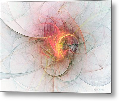 Electric Blossom - Abstract Art Metal Print