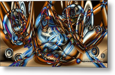 Electric Blue Metal Print by Ron Bissett