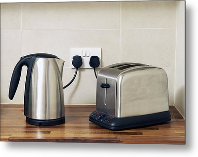 Electric Kettle And Toaster Metal Print by Johnny Greig