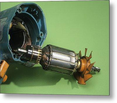 Electric Motor Metal Print by Andrew Lambert Photography