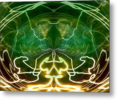 Metal Print featuring the digital art Electric Storm by Ginny Schmidt