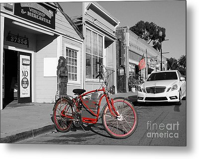 Electric Vehicle . Peddle Power . Infinite Miles To The Gallon . 7d12729 Metal Print