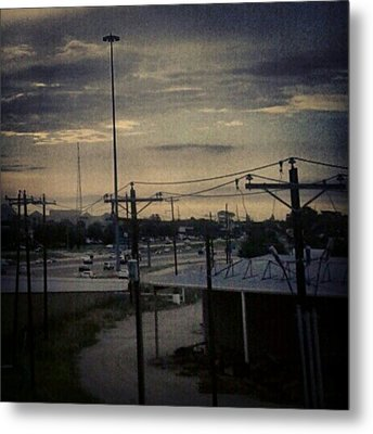 #electricalsky Metal Print by Kel Hill