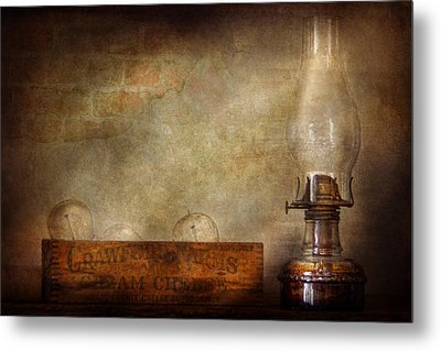 Electrician - Advancements In Lighting  Metal Print by Mike Savad