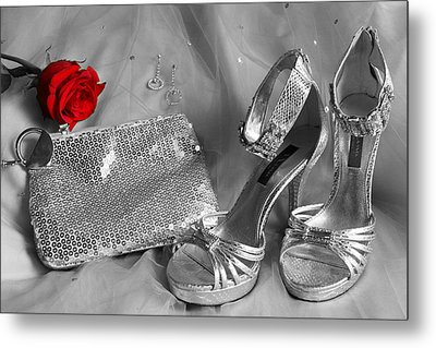 Elegant Night Out In Selective Color Metal Print
