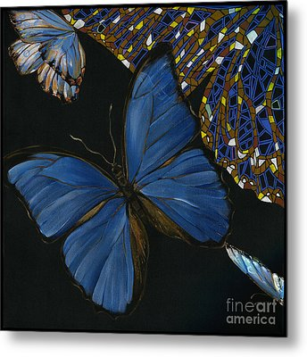 Elena Yakubovich - Butterfly 2x2 Lower Left Corner Metal Print by Elena Yakubovich