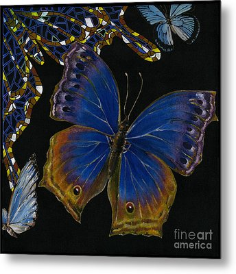 Elena Yakubovich - Butterfly 2x2 Lower Right Corner Metal Print by Elena Yakubovich
