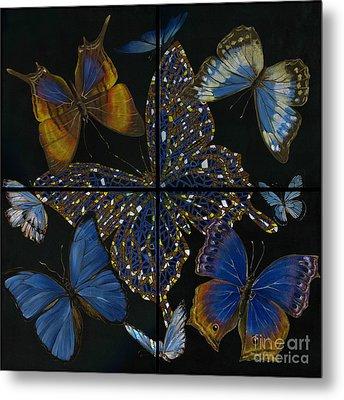 Metal Print featuring the painting Elena Yakubovich Butterfly 2x2 by Elena Yakubovich