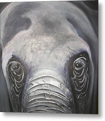 Elephant Eyes Metal Print by Mary Kay Holladay