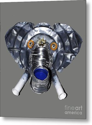 Elephant Mask Metal Print