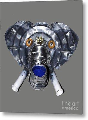 Elephant Mask Metal Print by Bill Thomson
