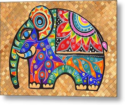 Elephant  Metal Print by Samadhi Rajakarunanayake