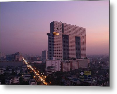 Elephant Tower Purple Sunrise Metal Print by Gregory Smith