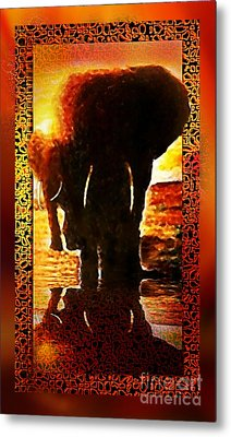 Metal Print featuring the digital art Elephants by Hartmut Jager