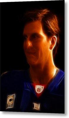 Eli Manning - New York Giants - Quarterback - Super Bowl Champion Metal Print by Lee Dos Santos