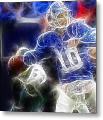 Eli Manning Ny Giants Metal Print by Paul Ward