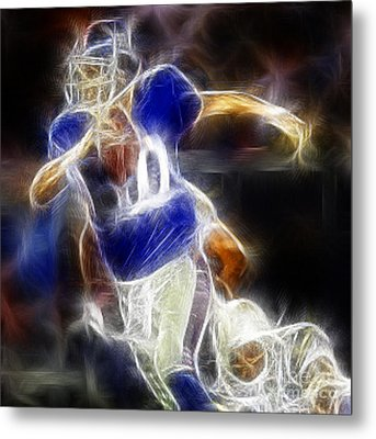 Eli Manning Quarterback Metal Print by Paul Ward