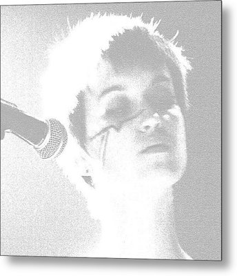 Elizabeth Baker Of Baker Family Band Metal Print by James Granberry