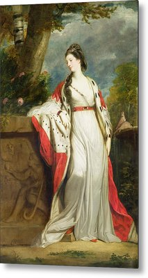 Elizabeth Gunning - Duchess Of Hamilton And Duchess Of Argyll Metal Print by Sir Joshua Reynolds