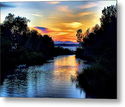 Elk Rapids Sunset Metal Print by Matthew Winn