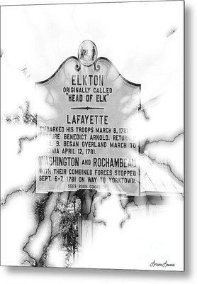 Elkton Head Of Elk  Metal Print by Lorraine Louwerse
