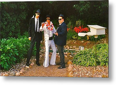 Elvis And The Blues Metal Print by Randy Rosenberger