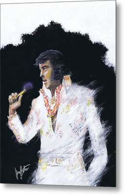 Elvis In Concert Metal Print