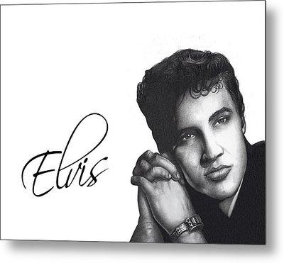 Elvis Metal Print by Lee Appleby